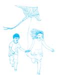 עיתון לילדים אדם צעיר - הוראות להכנת עפיפון