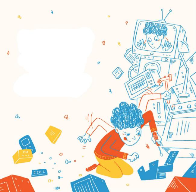 השידורים של מחר, ספור מאת רינת פרימו מתוך מגזין לילדים אדם צעיר, גליון המצאות