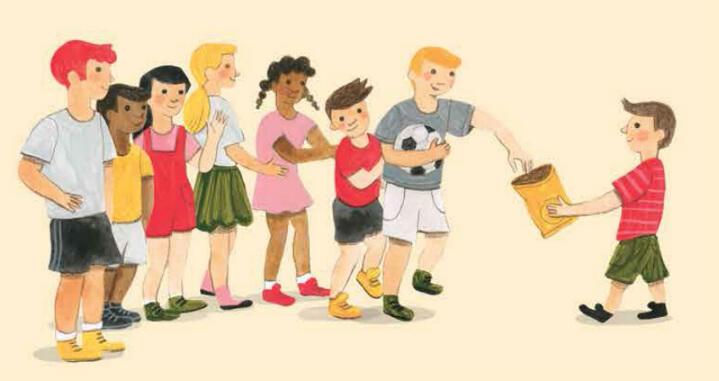 איור מתוך הסיפור חפש את המטמון, גיליון שכונה של אדם צעיר עיתון לילדים