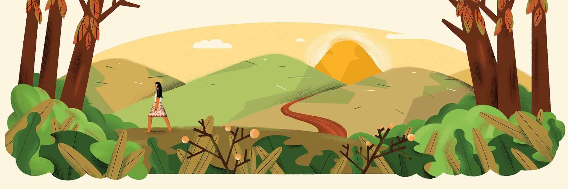 מתוך הסיפור נהר השוקולד. איור: חן ליבמן