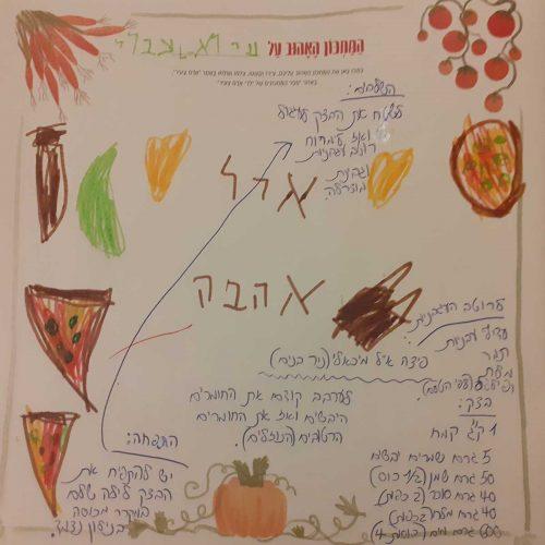 מתכון לפיצה של פיצריית מיכאלי במושב ניר בנים ,מאת אביגיל עברי ועירא קהתי